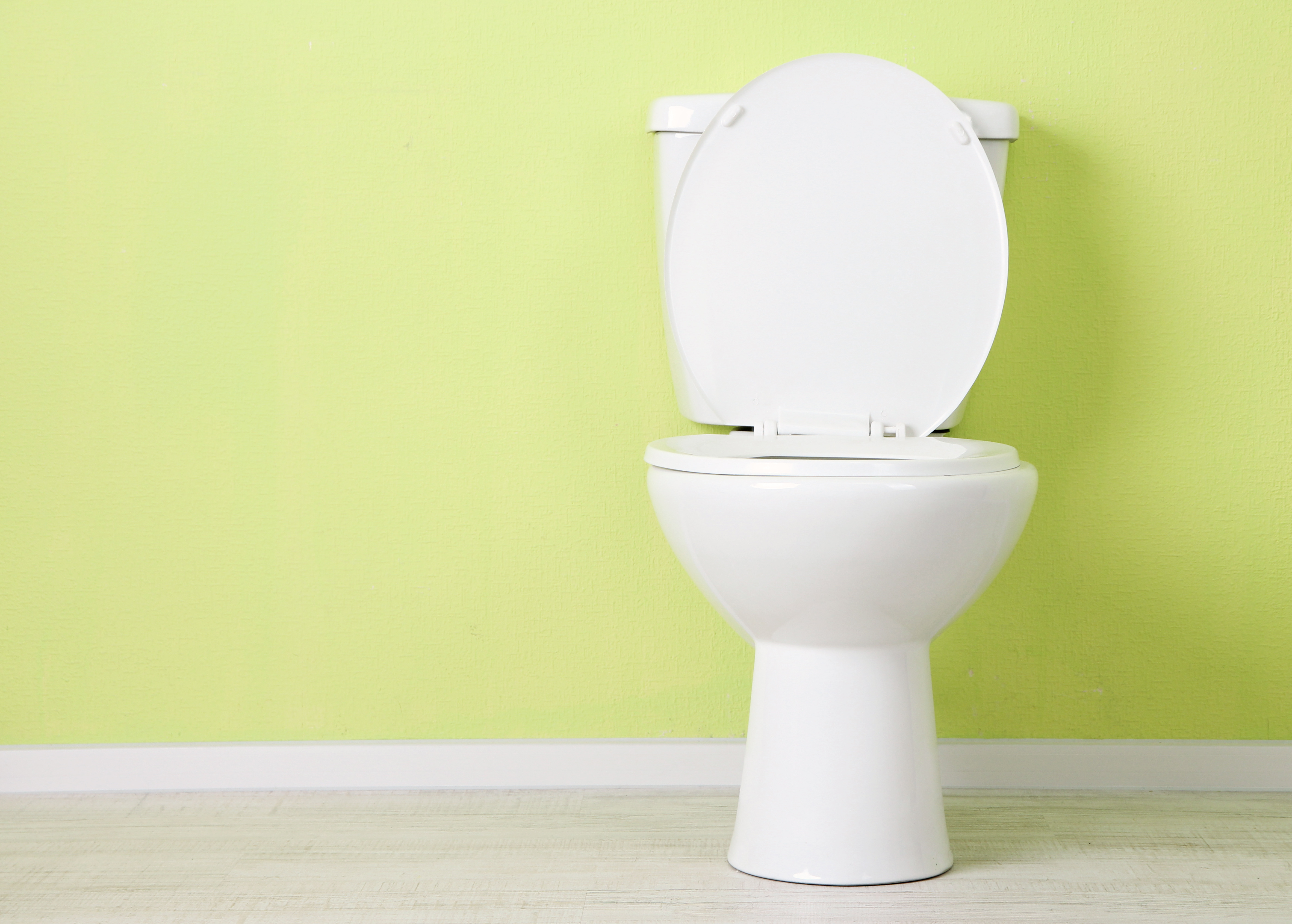 White toilet bowl in a bathroom. Toilet Repair   CARDINAL PLUMBING COMPANY