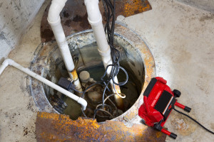 Repairing a sump pump in a basement